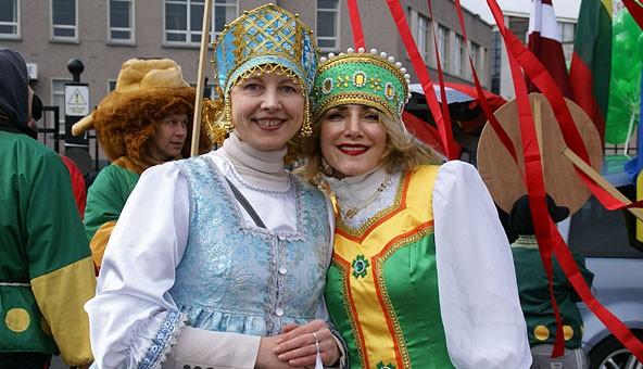 ИТАР-ТАСС рассказывает о параде Св Патрика в Голуэе